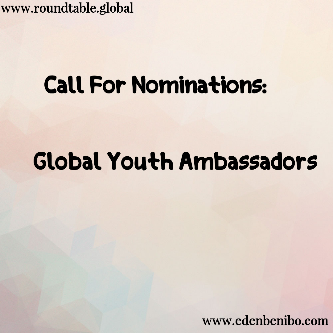 Call For Nominations: Global Youth Ambassadors